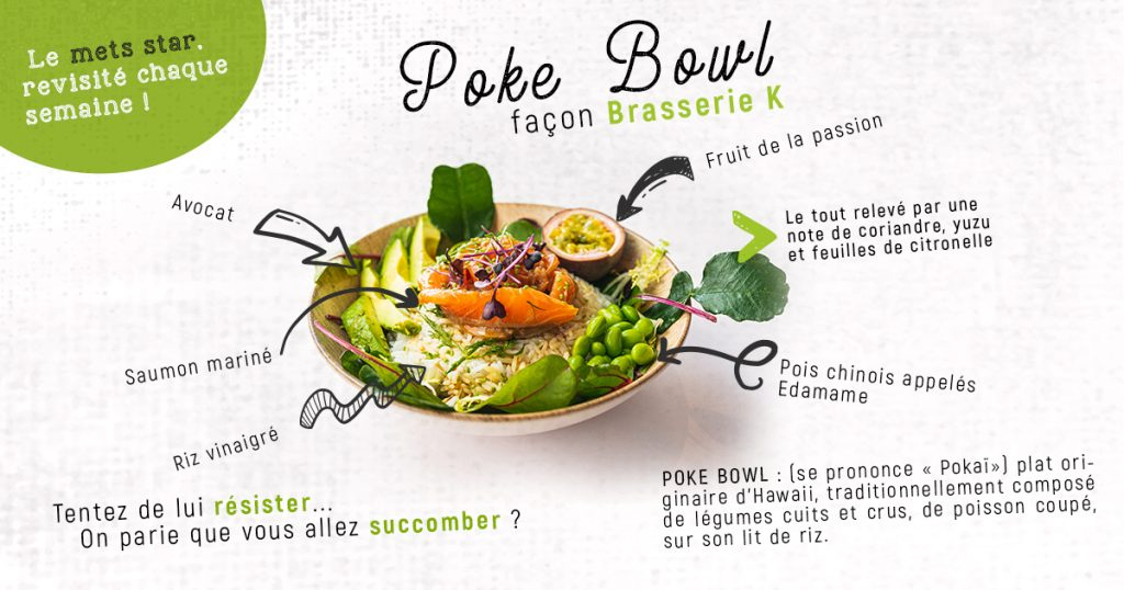 Le Poke bowl, la star healthy tout droit venue d'Hawaï